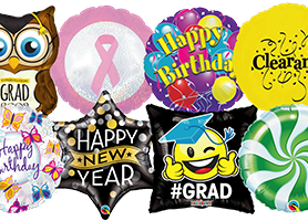 Foil Balloons - Birthdays, Graduation, New Year, Sales and Promotional