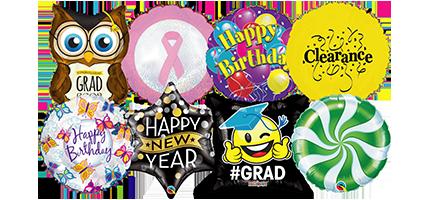 stock design printed foil mylar balloons