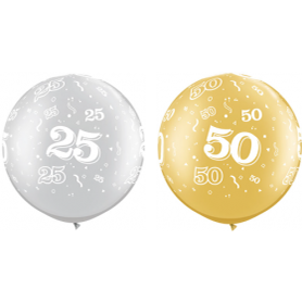 Qualatex Anniversary Latex Balloons - 30 Inch